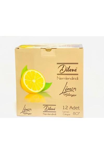 Dilara Dezenfektan Etkili 80 Derecelik Nemlendiricili Sprey Limon Kolonyası 12X150 ml