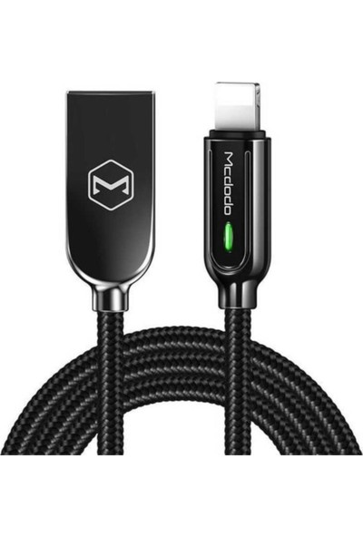 Mcdodo CA-5261 Lightning Data Cable Auto Power Off 1.2m Siyah