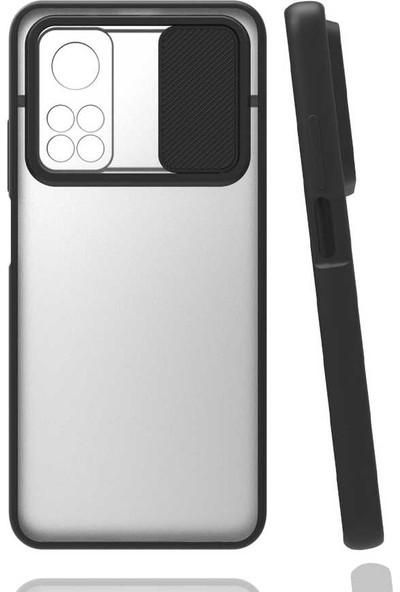 Fibaks Xiaomi Mi 10T 5g Kılıf Slayt Kaydırmalı Kamera Korumalı Renkli Silikon