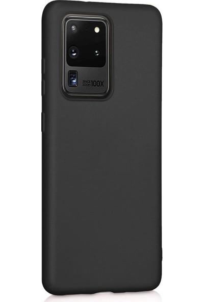 Fibaks Samsung Galaxy S20 Ultra Kılıf Klasik Mat Renkli Yumuşak Premier Silikon