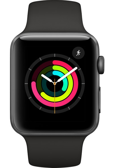 Apple Watch Seri 3 GPS 42 mm Uzay Grisi Alüminyum Kasa ve Siyah Spor Kordon - MTF32TU/A