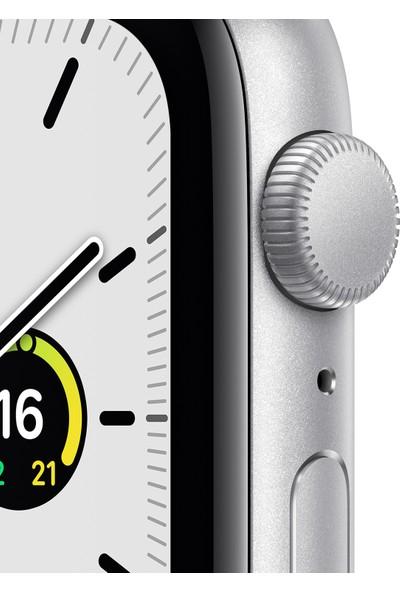 Apple Watch SE 44mm GPS Silver Alüminyum Kasa ve Beyaz Spor Kordon MYDQ2TU/A