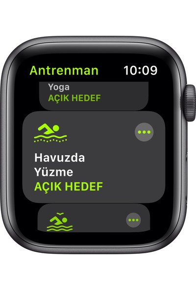 Apple Watch SE 44mm GPS Space Gray Alüminyum Kasa ve Siyah Spor Kordon MYDT2TU/A