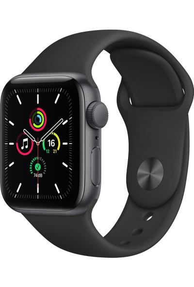 Apple Watch SE 40mm GPS Space Gray Alüminyum Kasa ve Siyah Spor Kordon MYDP2TU/A