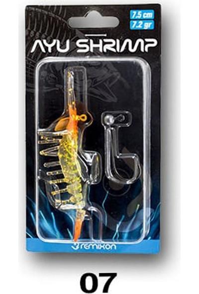 Remixon Ayu Shrimp Karides 7.5 cm 7.2 gr Silikon Yem