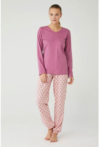 Mod Collection Kadın Gül Kurusu Pijama Takımı