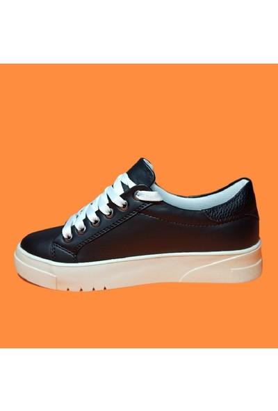 Endless Beyaz Tabanlı Siyah Spor Endless Ayakkabı