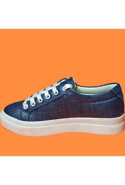 Endless Beyaz Tabanlı Mavi Spor Endless Kadın Ayakkabı
