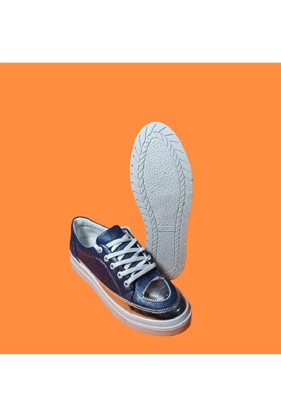 Endless Gümüş Ayna Detaylı Beyaz Taban Spor Endless Kadın Ayakkabı