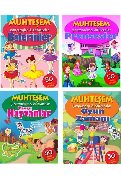 Parıltı Yayınları Muhteşem Çıkartmalar ve Aktiviteler Serisi 4 Kitap - Balerinler+Prensesler+Yavru Hayvanlar+Oyun Zamanı - 3+ Yaş - Okul Öncesi - 4 Kitap - Set - Çıkartma - Etkinlik - Bulmaca