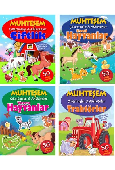 Parıltı Yayınları Muhteşem Çıkartmalar ve Aktiviteler Serisi 4 Kitap -Çiftlik+Evcil Hayvanlar+Yavru Hayvanlar+Traktörler - 3+ Yaş - Okul Öncesi - 4 Kitap - Set - Çıkartma - Etkinlik - Bulmaca