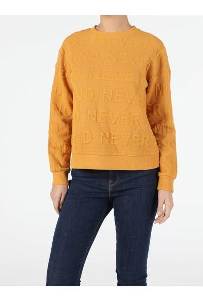 Colin's Regular Fit Kadın Sarı Sweatshirt