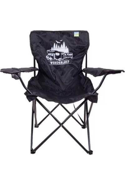 Upland Stark Wanderlast Kamp Sandalyesi Siyah