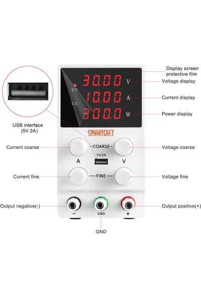 Smartgıft Ayarlanabilir 30V/10A Dc Güç Kaynağı Voltaj Regülatörü