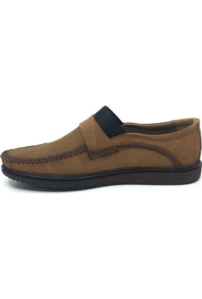 Üçlü Deri Bağsız Yazlık Tam Rok Rahat Streçli Erkek Ayakkabı 39-45