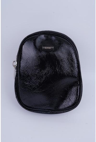 Lindo Kadın Rugan Siyah Renk Postacı Çantası