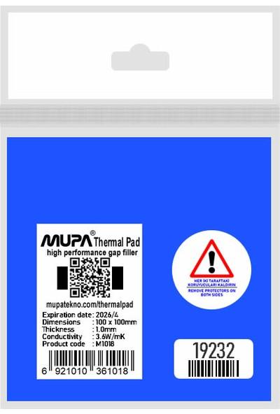 Mupa Termal Ped / Thermal Pad 1.0mm 3.6W/MK 10X10CM M1018