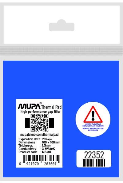 Mupa Termal Ped / Thermal Pad 1.5mm 3.6W/MK 10X10CM M3601