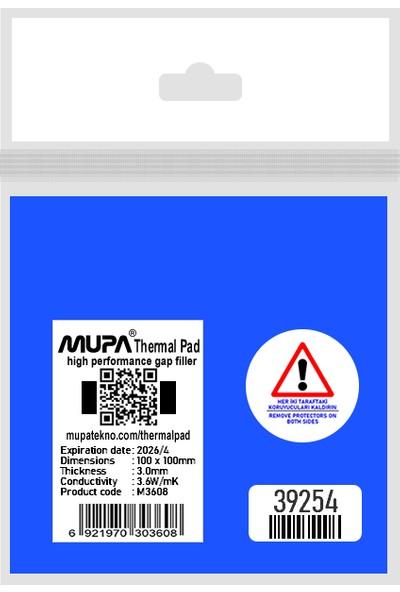 Mupa Termal Ped / Thermal Pad 3.0mm 3.6W/MK 10X10CM M3608
