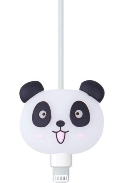 Happycase Sevimli Şarj Kablo Koruyucu Figürlü Kablo Panda