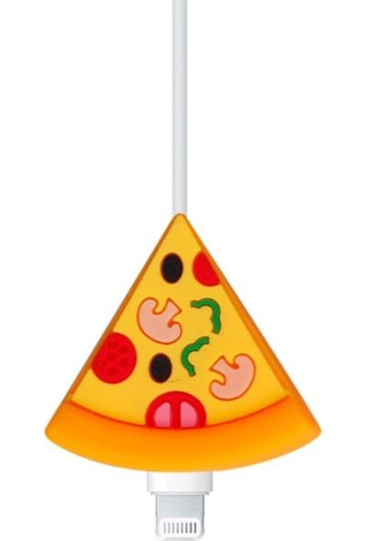 Happycase Sevimli Şarj Kablo Koruyucu Figürlü Kablo Pizza