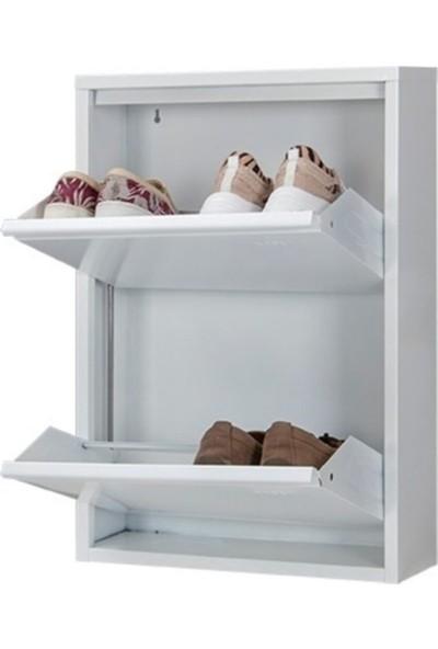Bunuver Metal Ayakkabılık Beyaz 2 Kapak