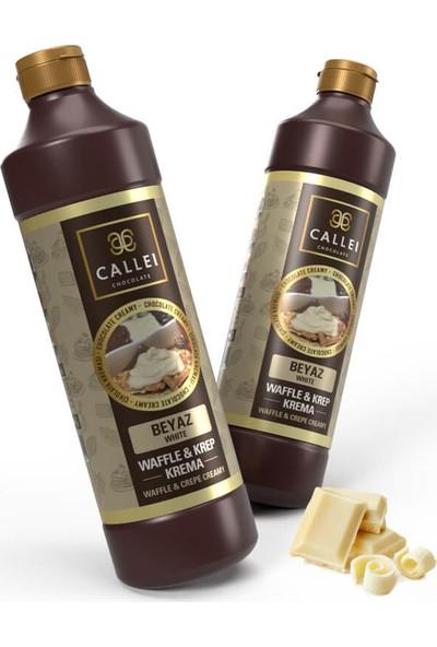 Callei Waffle & Krep Beyaz Çikolata Krema 2'li Şişe