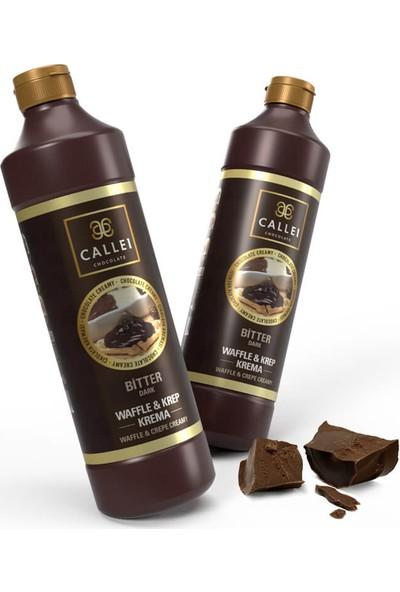 Callei Waffle & Krep Bitter Çikolata Krema 2'li Şişe