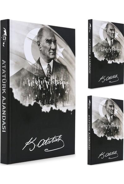Liz 2021 Atatürk Ajanda Günlük Çizgili Özel Resimli Sayfalar Kuşe Sert Kapak 17 x 24 cm 3 Adet