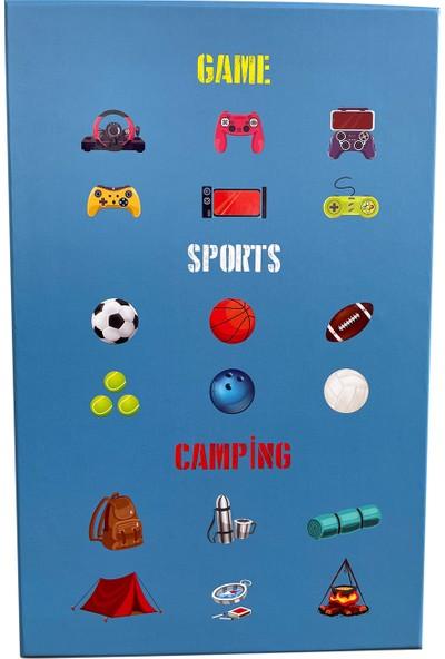 Ambalajist Hediyelik Kutu Mavi Sport Game Camping