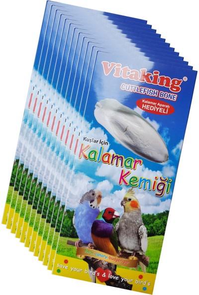 Vitaking Kalamar Kemiği 12' li Box Kuşlar Için + Kafes Aparatı