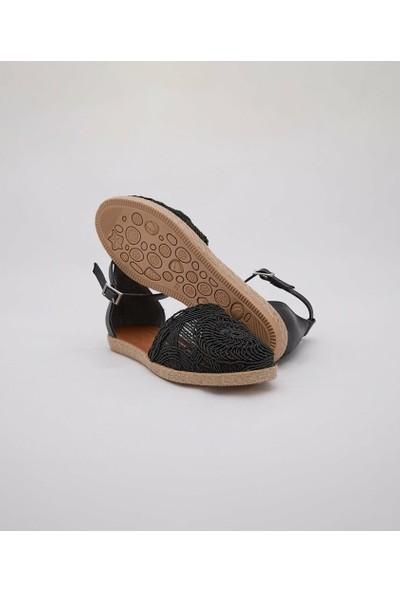 Cudo Siyah Zenne Kadın Ayakkabı