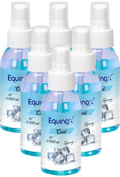 Equinox Cool Kolonya 100 ml Sprey ( Ferahlatıcı Kolonya ) 6 Adet