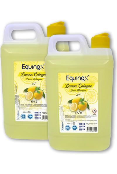 Equinox Lemon Cologne Limon Kolonyası 1 Lt Bidon 2 Adet