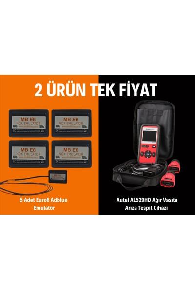Fırsat Paketi Autel AL529HD Ağır Vasıta Arıza Tespit Cihazı ve 5 Adet Euro6 Adblue Emulatör