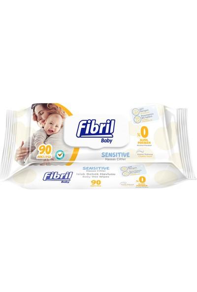 Fibril Baby Sensitive Islak Mendil Hassas Ciltler İçin Provitamin B5 Katkılı 90 Yaprak 4'lü Paket