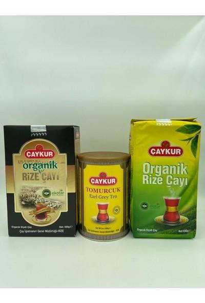 Çaykur Organik Rize Çayı 400 Gr, 500 gr ve Tomurcuk 200 gr