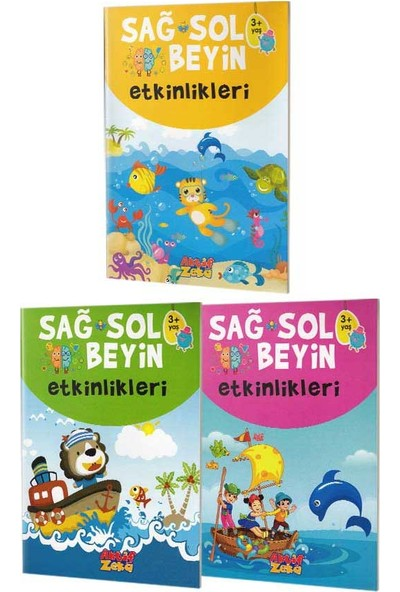 Aktif Zeka Yayınları - Sağ ve Sol Beyin Etkinlikleri Seti