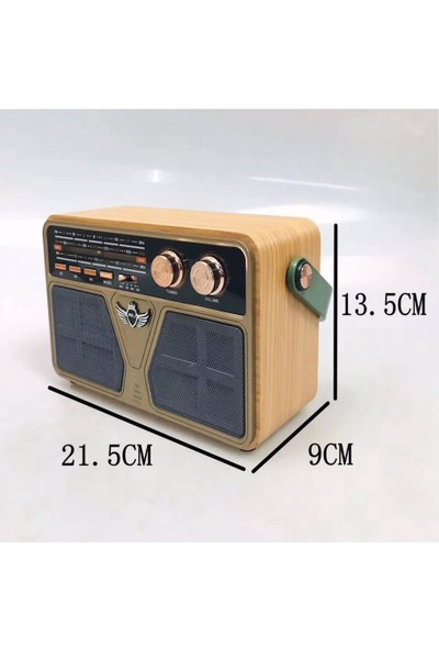 Kemai M-507 Bt Ahşap Radyo Fm USB Tf Bluetooth Hoparlör