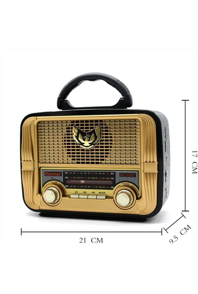 Kemai MD-1905 Bt Nostalji Radyo Bluetooth+Fm Radyo+Usb+Sd Kart