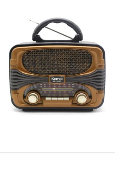 Kemai MD1903 Nostaljik Radyo Retro Vintage USB Aux Bluetooh
