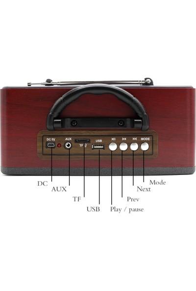 Meier M-113 Bt Nostaljik Usb-Tfcard-Bluetooth Destekli Fm Radyo