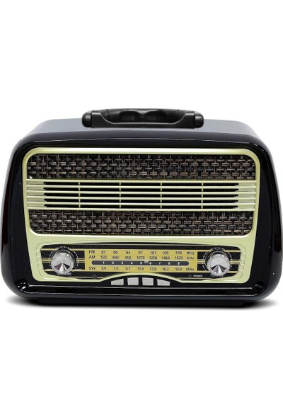 Kemai MD1902 Nostaljik Radyo Şarjlı Usb/sd/mp3/bluetooth