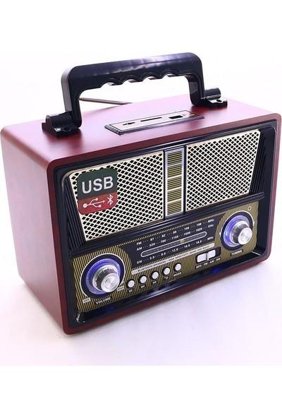 Kemai MD-1802 Bt Nostaljik Radyo Fm Am Sw Band Sd Tf Kart Buetooth