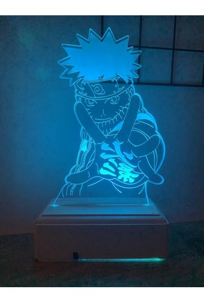 Modiwa Design Naruto Uzumaki 3D 16 Renk Gece Lambası