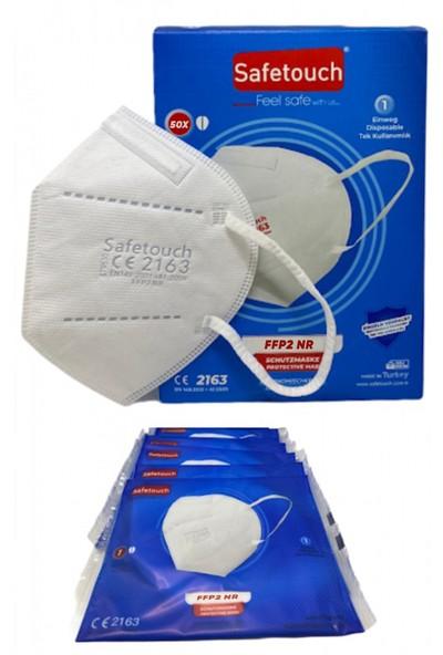 Safe Touch Safetouch KN95 Ffp2 Yüksek Filtrasyonlu Full Ultrasonik 5 Katlı Maske