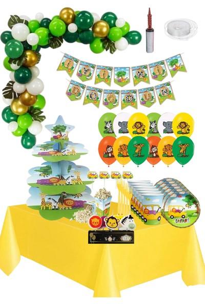 Barn Members Safari Temalı 16 Kişilik Eğlence Parti Doğum Günü Seti / Safari Z-11-2