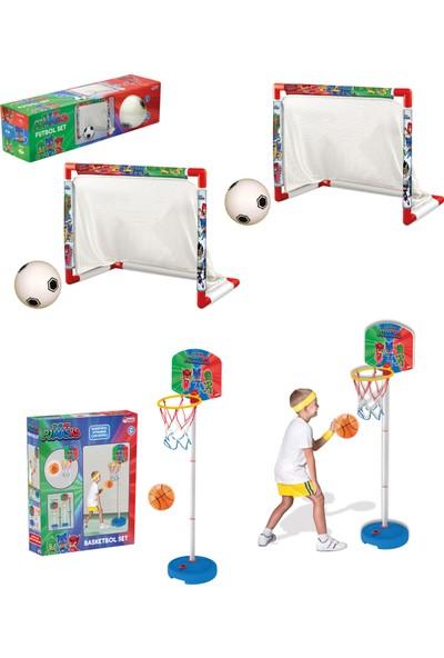 Beybisi Pj Masks Futbol Set + Pj Masks Küçük Ayaklı Basket Pota