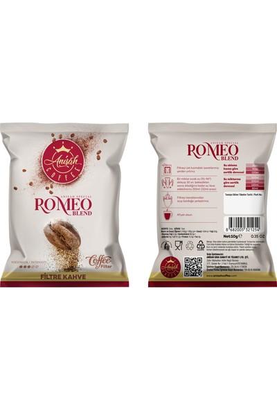 Anişah Coffee Romeo Blend Pratik Filtre Kahve 10'lu Paket