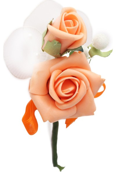 Lora Wedding 12CM Somon Renkli Lateks Çiçek Kiti 12 Adet